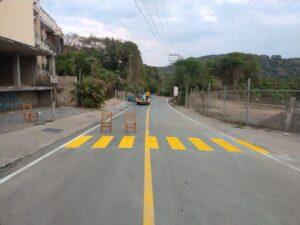 Renovación de la avenida de acceso al poblado de Chacala